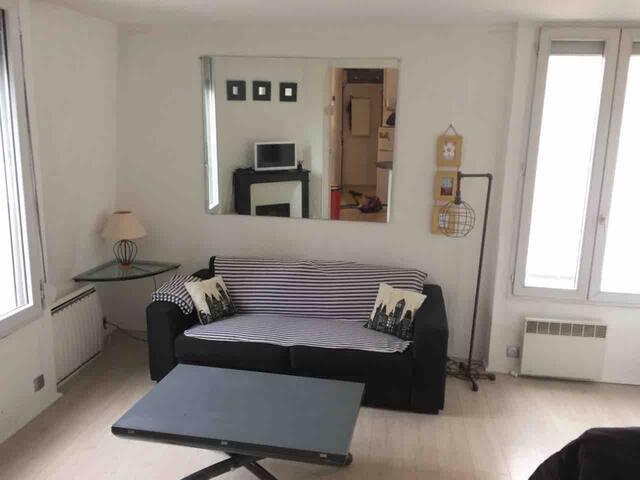 Appartement 2P spacieux et calme Paris centre