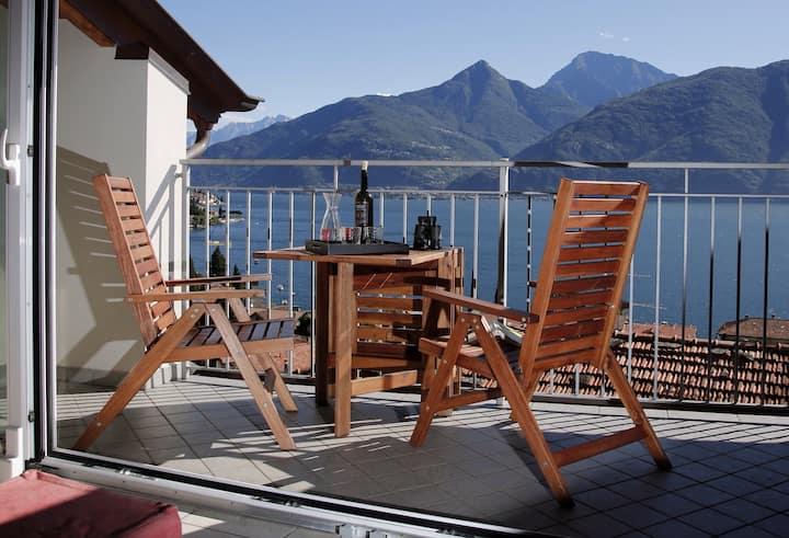 Lake Como with stunning lake & mountain views