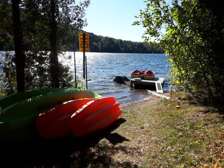 TOUJOURS HEUREUX - Chalet rustique au bord du lac