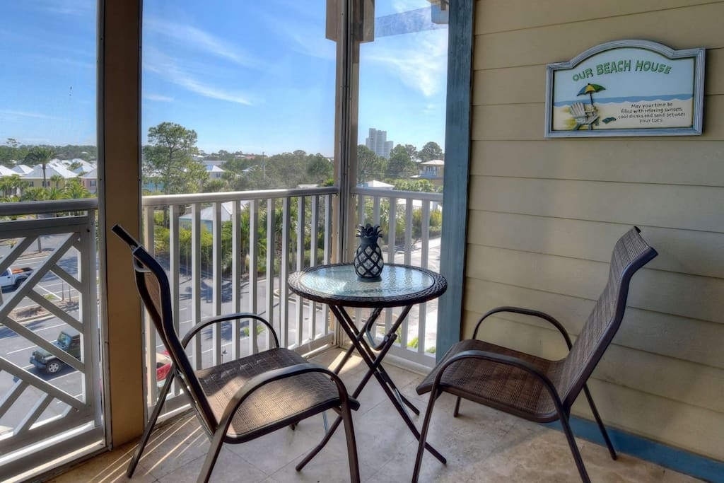 Enjoy your morning coffee from the balcony of Shaw Shack #2407 overlooking the beautiful Resort of Seagrove Highlands!