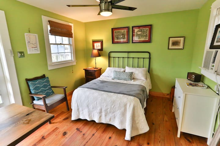 Full Bed, side table, dresser and chair