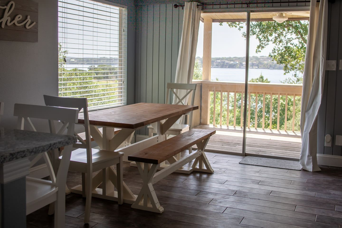 Beautiful view of the Lake from the Kitchen/Dining Room!