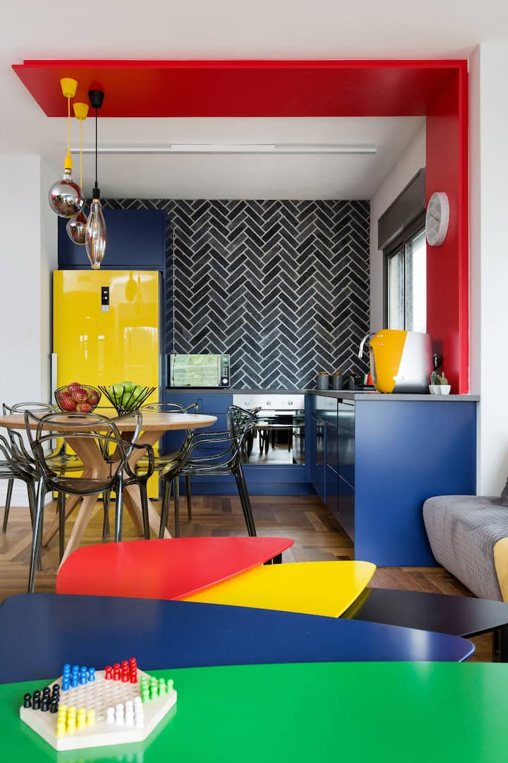 Colorful AIRBNB apartment