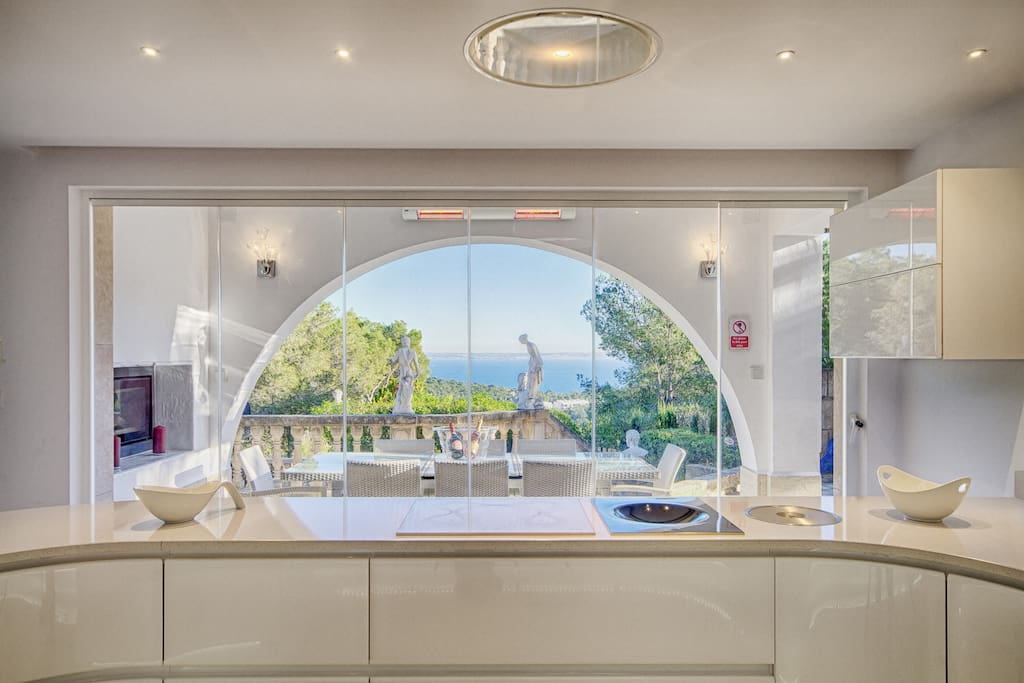View to the Ocean From  the Kitchen