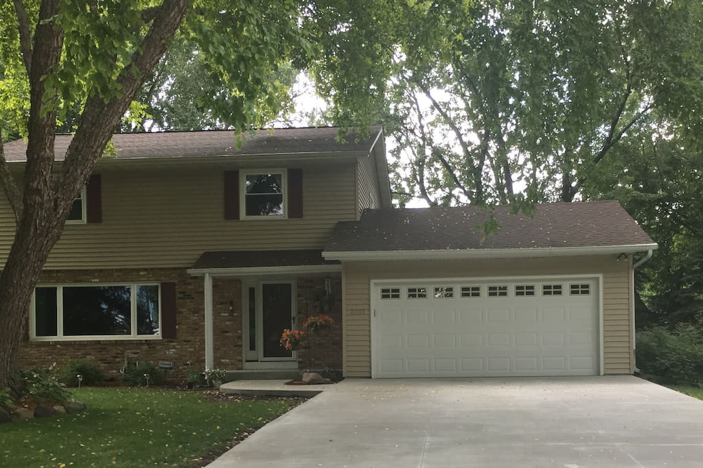 Welcome to our home!  We are located in a quiet, woodsy western suburb of the Twin Cities.