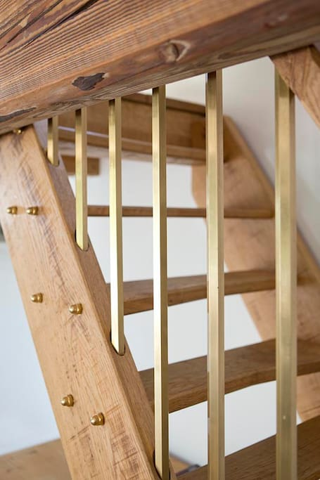Steep Stairs to access Mezzanine Bed with restricted height.