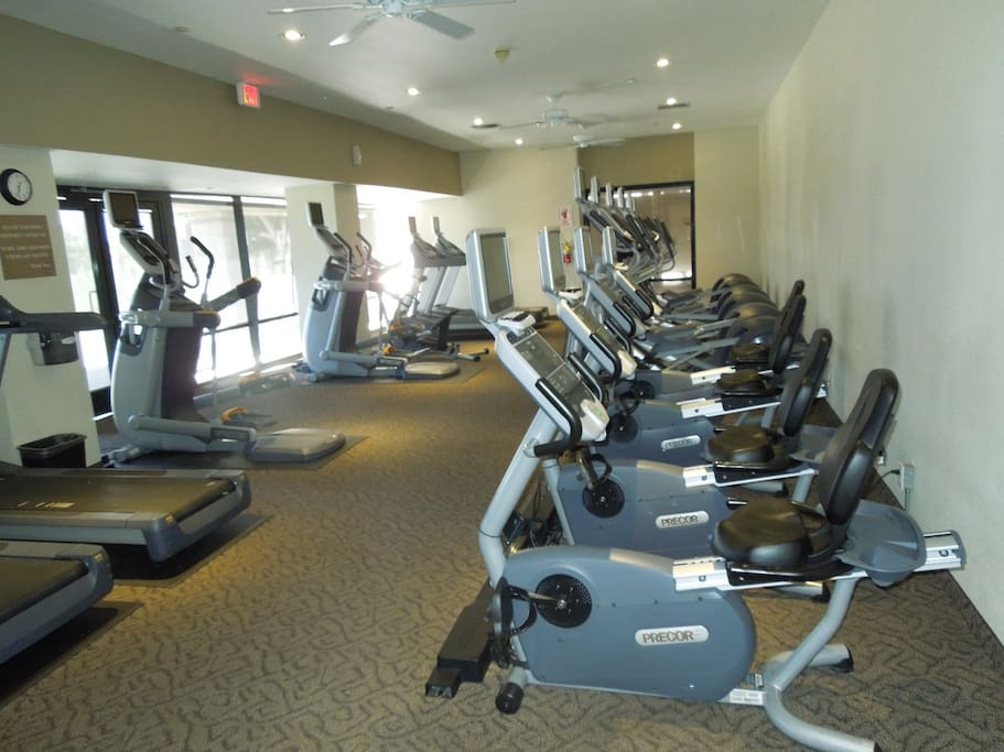 Our renovated fitness center.