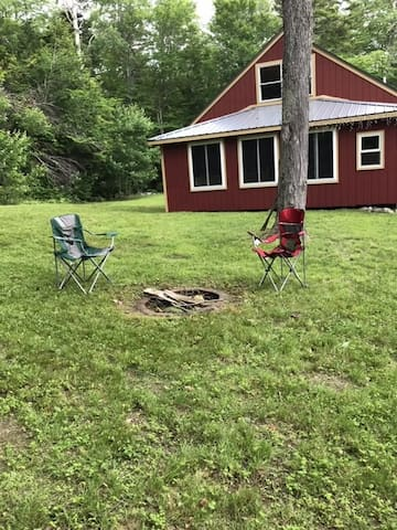 Front view with fire pit