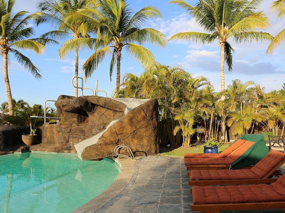 Private Pool with Water Slide