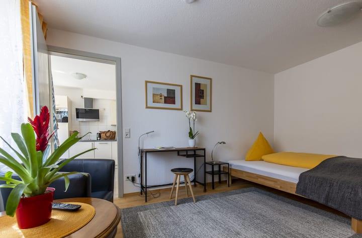 Apartments im Café Einstein, (Freiburg), Apartment Topas, 30qm, 1 Wohn-/Schlafzimmer, max. 2 Personen