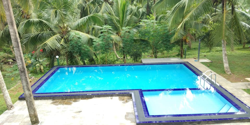 This is a privet Villa located at hikkaduwa in a Eco land as a Privet villa