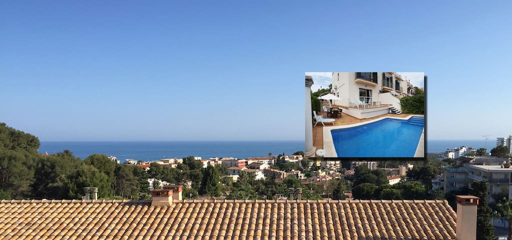 Spacious Sitges House, Pool, Sea & Mountain Views. - Sitges - Maison
