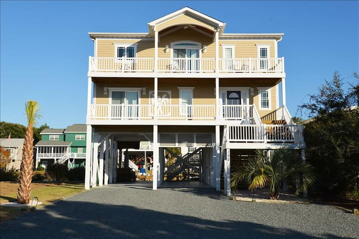 Sand Happens, REDUCED RATES canal front, elevator and hot tub, DOCK YOUR BOAT! - Holden Beach - House