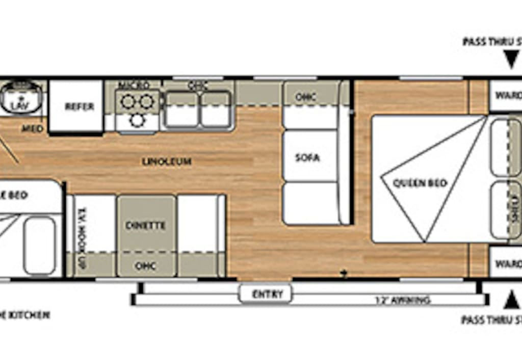 This is the layout of the camper