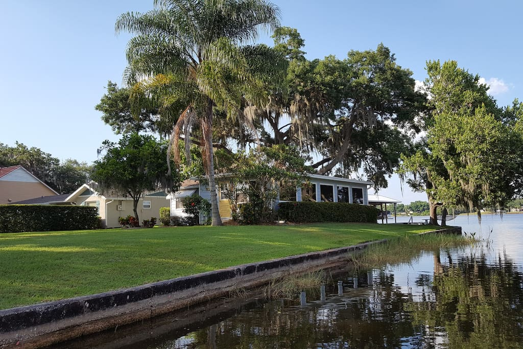 View of house from canal into Lake June and LakeHenry