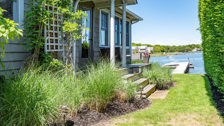 New Listing: Private Cottage with Beach and Dock, Separate Cabana, Waterside Patio