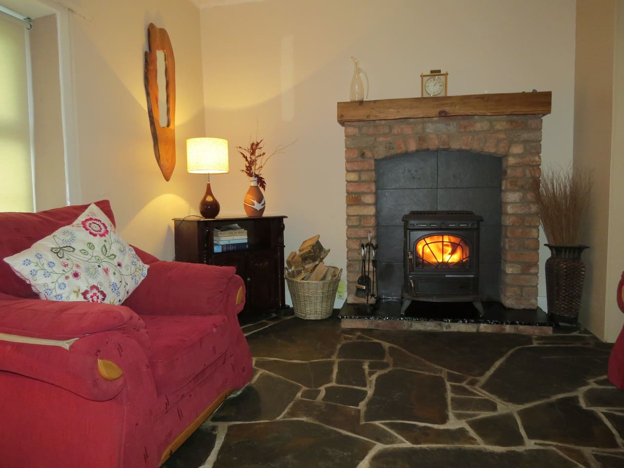 COSY SITTING ROOM WITH WOOD/TURF BURNING STOVE