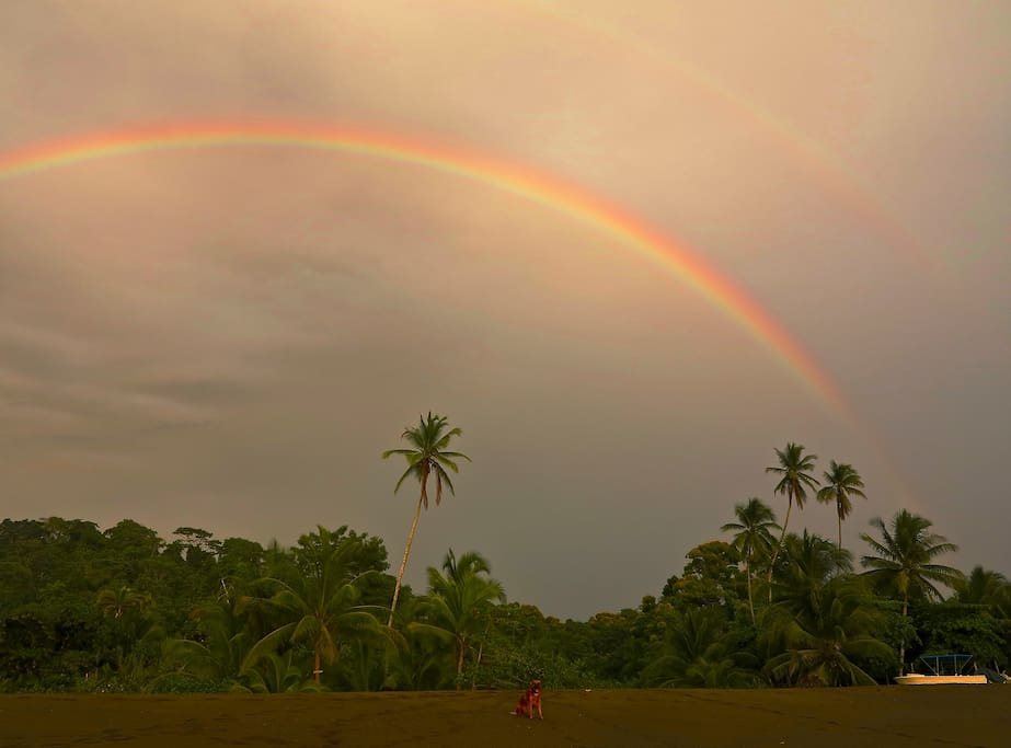 Double rainbow over Guaria de Osa!!!