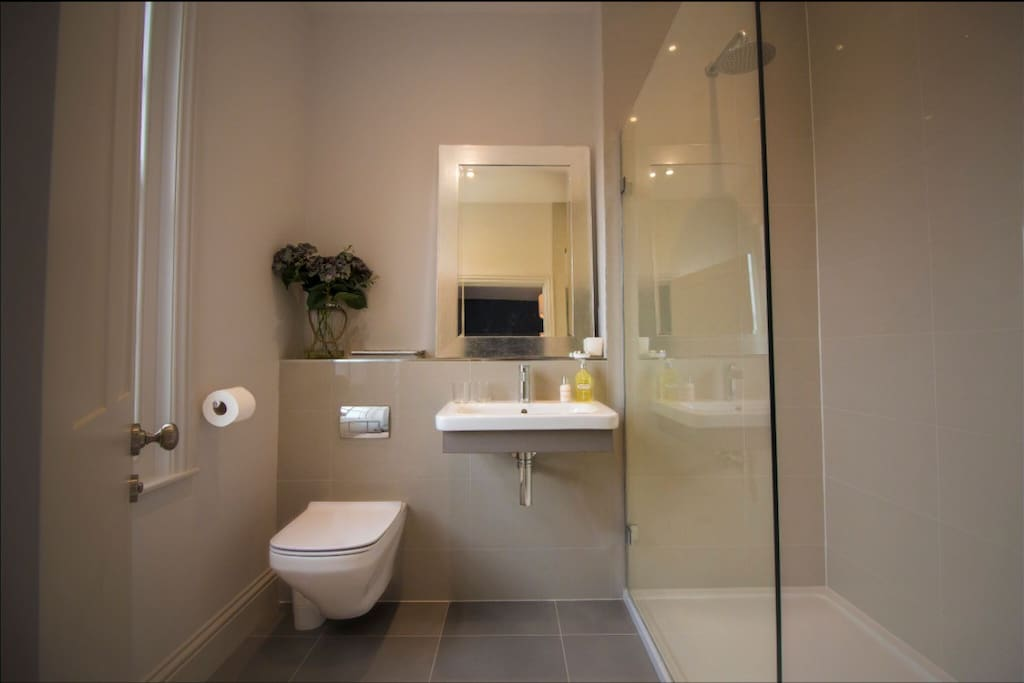 Modern ensuite with huge shower!