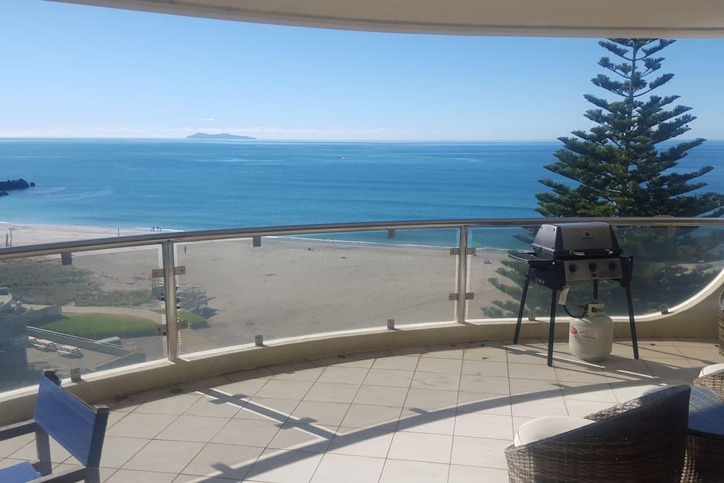 Ocean beach view
