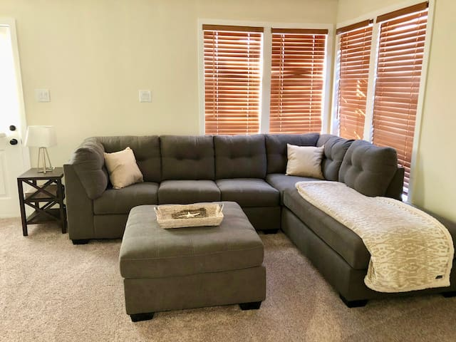 Large sectional with pull-out couch