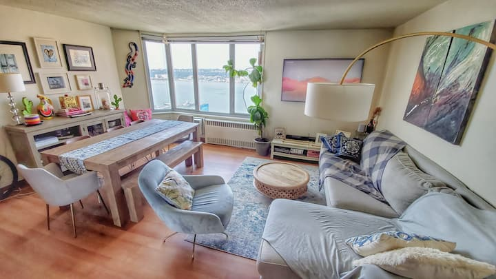COZY-SPACIOUS 2BR: STUNNING RIVER VIEWS+WIFI500Mb