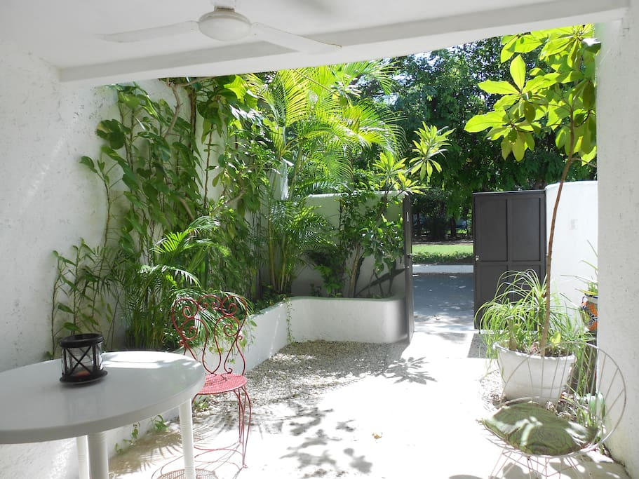 Your Private Covered Patio that seats 4 people comfortably
