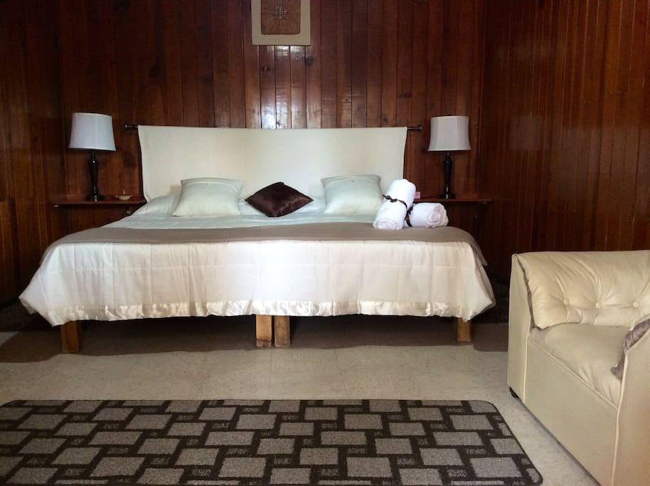 Otra habitación con cama king size que puede convertirse en dos individuales