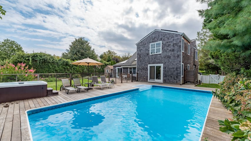 Family Home in Southampton w/ Big Backyard, Private Pool, Hot Tub, Kid-Friendly Perks