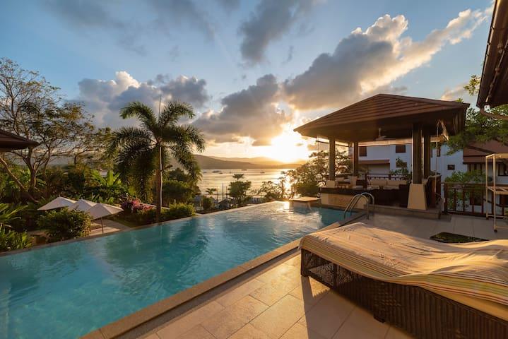 Villa Josakathaï 3BR-Private Pool&Sea View+Sunset