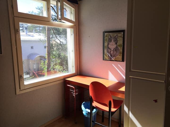 Bedroom & shared living room