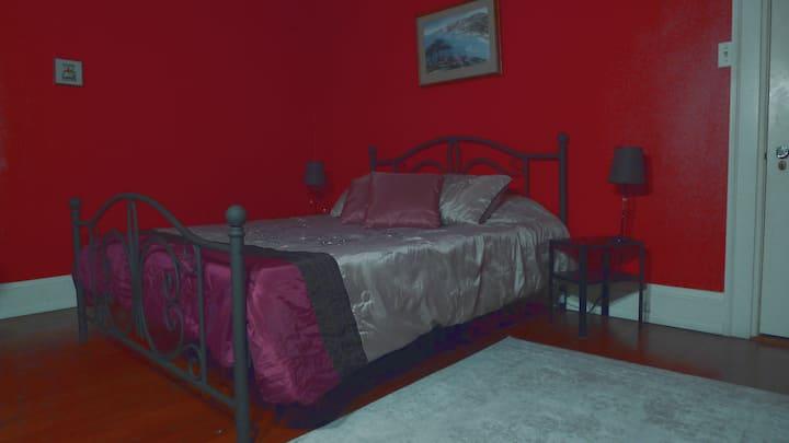 Aardvark Acres East-Red Room, with bath.