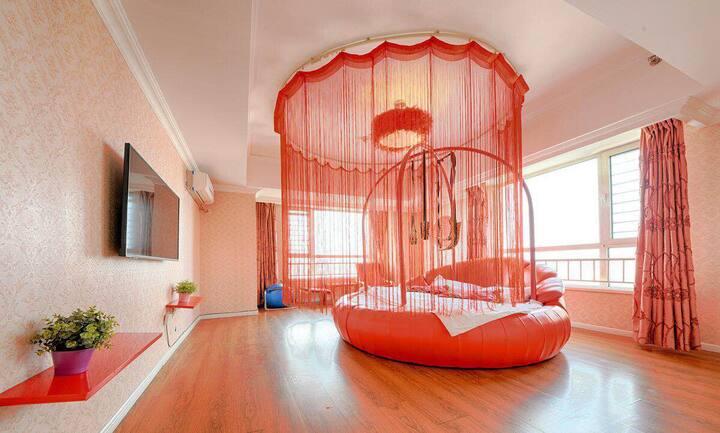 万达樱花公寓  精品圆床房