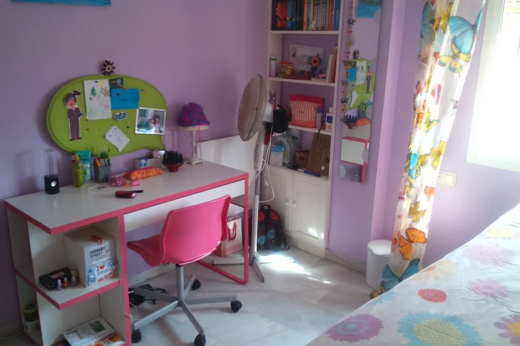 Desk and room view