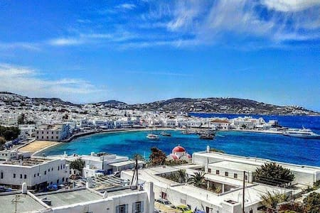 Great room in town stelios view2pax - Mikonos