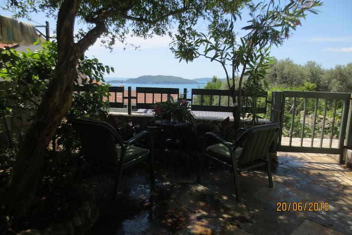 Lovely 3-room apart with sea view, garden & patio