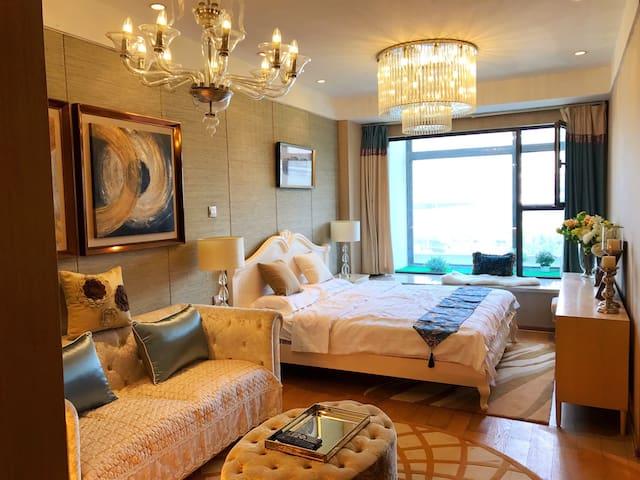 临近地铁一号线+绝版现代风+精品套房+9号公寓 - Suzhou - Condominium