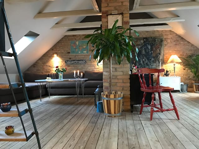 Scandinavian Loft near beach, Christiania & center - Copenaghen - Loft