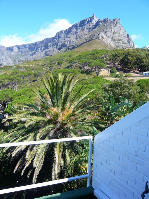 Large balcony looking onto Table Mountain