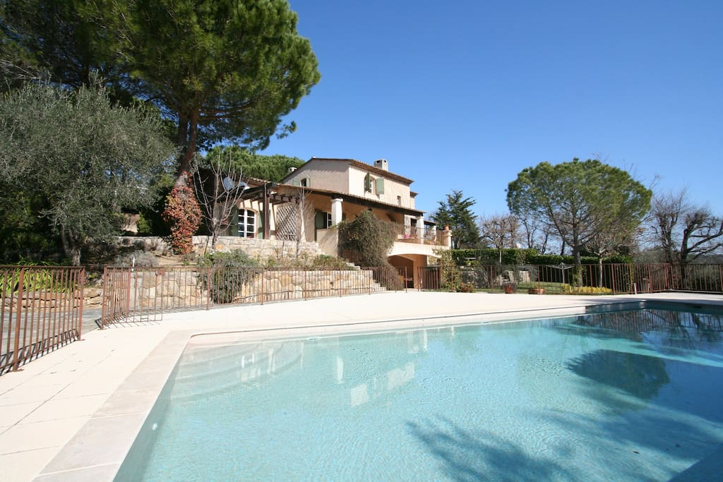 Villa from paddling pool area