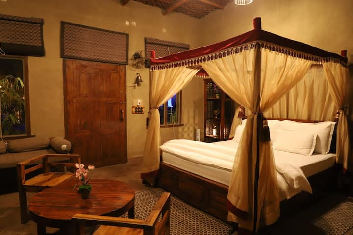 Royal cottage in Themis Mudhouse Resort(CP)