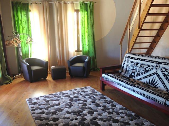 La partie salon