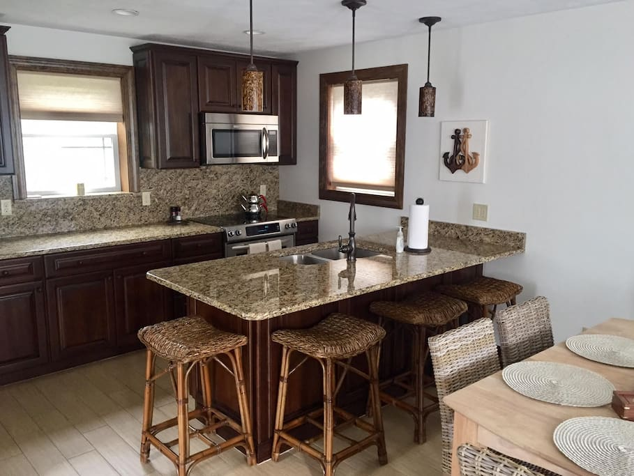 Breakfast Island as well as formal dining table