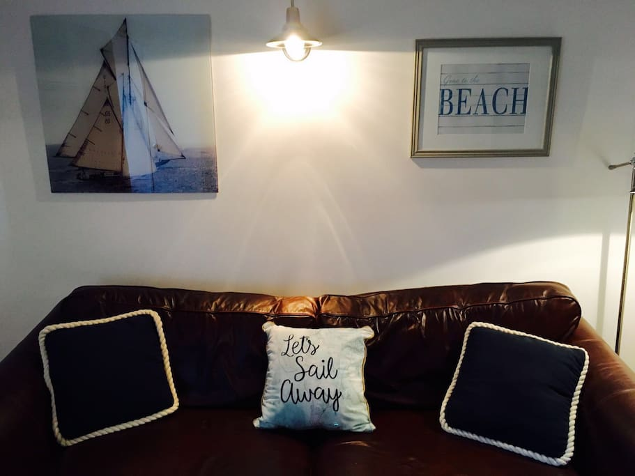 Let's sail away...comfy leather seating to relax on