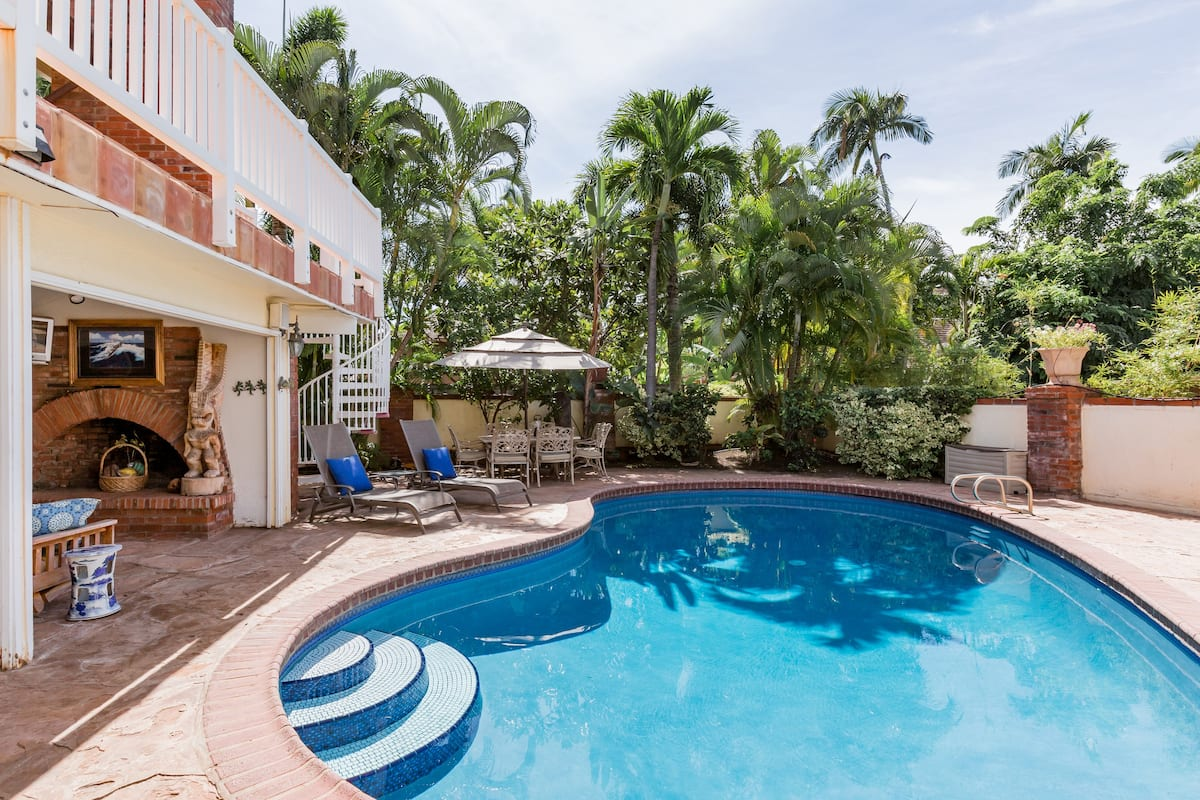 Stroll to Lahaina Town from Gated Home with Private Pool