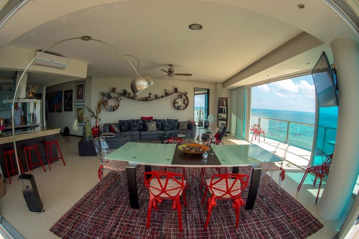 APARTMENT IN CANCUN2, AMAZING OCEAN VIEW.
