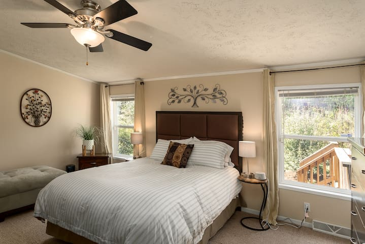 Large Master Bedroom with comfy Queen bed