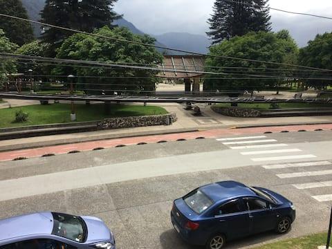 Departamento familiar frente a la plaza de Aysén