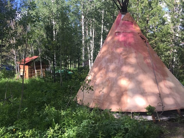 Sun TIPI EXPERIENCE IN A RUSTIC environment