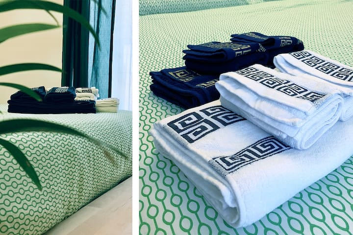 Pure cotton towels for each guest